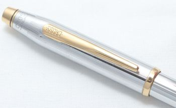 8418 AT Cross 'Century II' Ball Pen in Polished Stainless Steel.