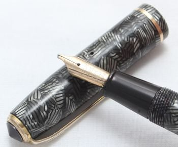 8441 Esterbrook Relief No.12 Fountain Pen (Made by Conway Stewart). Broad Italic FIVE STAR Nib.