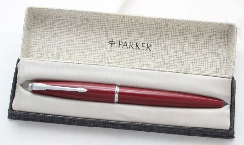 8448 Parker 45 CT in Burgundy. Smooth 14ct gold Broad FIVE STAR Nib. Mint a