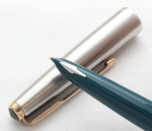 8584 Parker 61 Classic in Vista Blue. Smooth Broad FIVE STAR Nib.