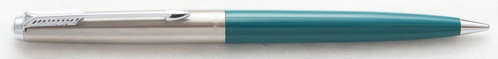 8594 Parker 45 CT Propelling Pencil in Teal Blue.