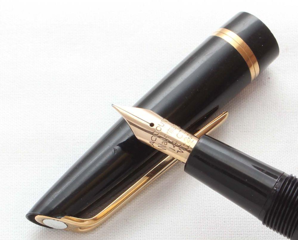 8599 Watermans L2 Fountain Pen in Black, Fine FIVE STAR Nib.