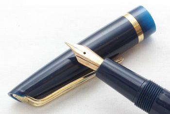 8602 Watermans L2 Fountain Pen in Blue, Fine FIVE STAR Nib.