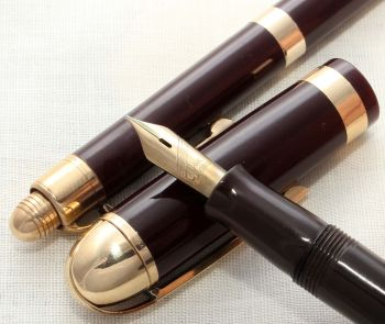 8610 Eversharp Skyline Fountain Pen and Pencil set in Brown. Medium FIVE STAR Nib. Mint and Boxed.