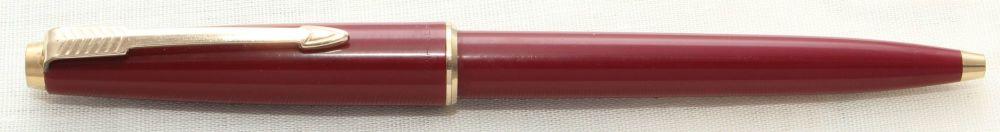 8672 Parker 45 CT Ball pen in Burgundy.