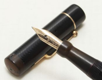 8688 Swan (Mabie Todd) Leverless L200/60 Fountain Pen in Black. Smooth Fine Semi Flex FIVE STAR Nib.