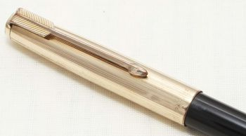8722 Parker 51 Propelling Pencil in Black with a Rolled Gold cap.