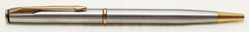 8779 Parker Insignia Ball Pen in Brushed Stainless Steel.