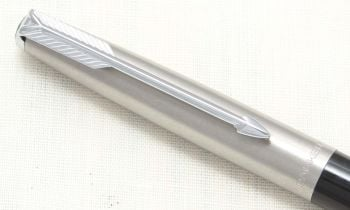 8797 Parker 61 MkI Propelling Pencil in Black with a frosted Lustraloy cap.