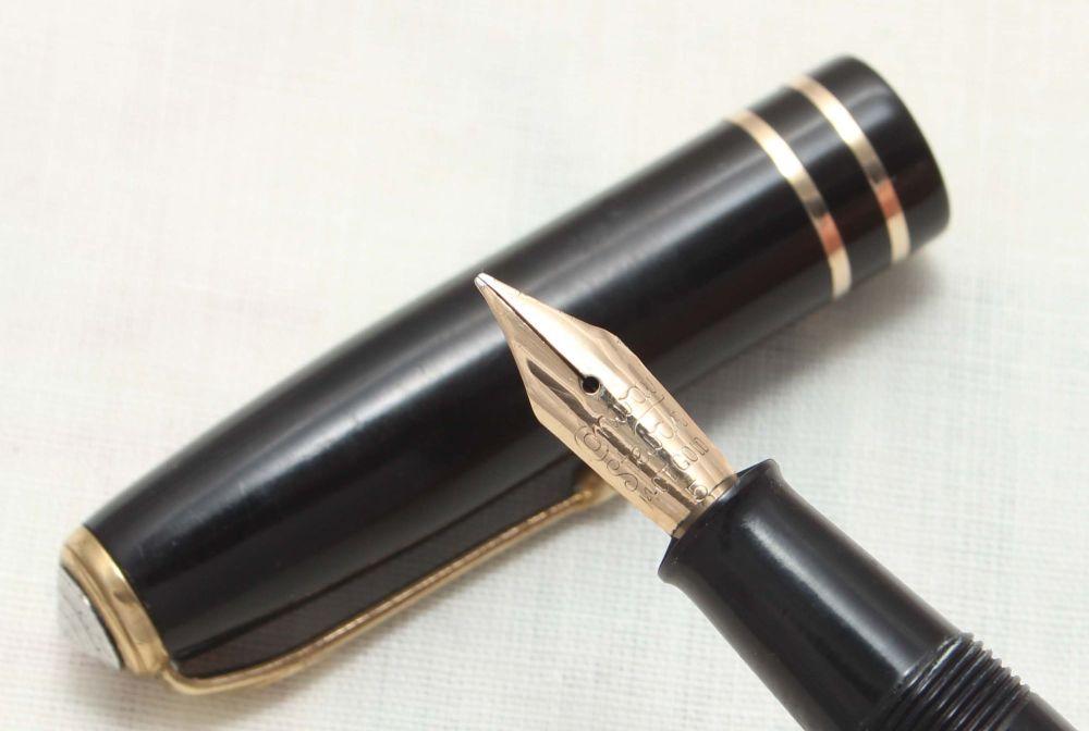 8818 Conway Stewart No.24 in Classic Black. Medium Nib.