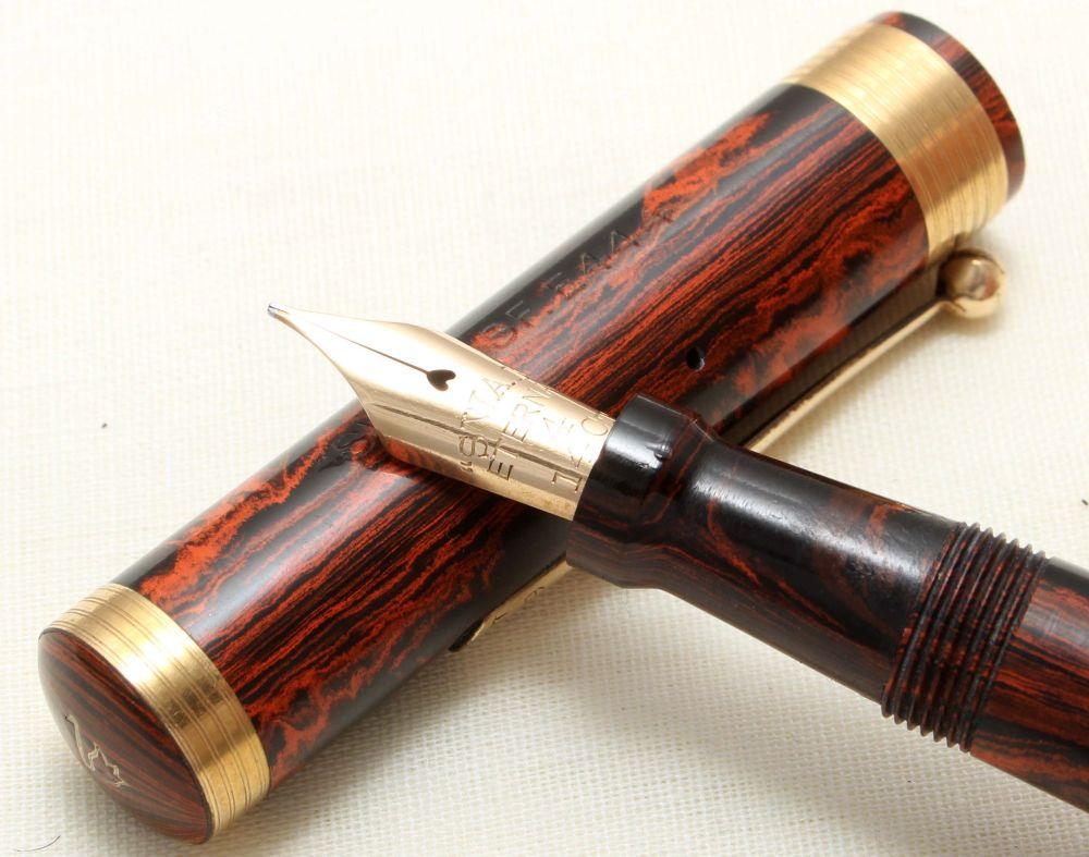 8880 - Swan (Mabie Todd) Eternal Self Filling Fountain Pen in Woodgrain, Fi