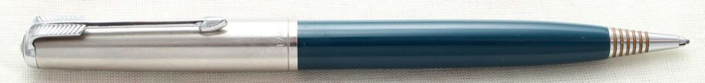 8898. Mint Parker 51 Clutch Pencil in Teal Blue. Lustraloy Cap.