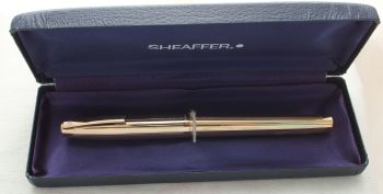 8906 Sheaffer Imperial Fountain Pen in Rolled Gold, Medium FIVE STAR Nib.
