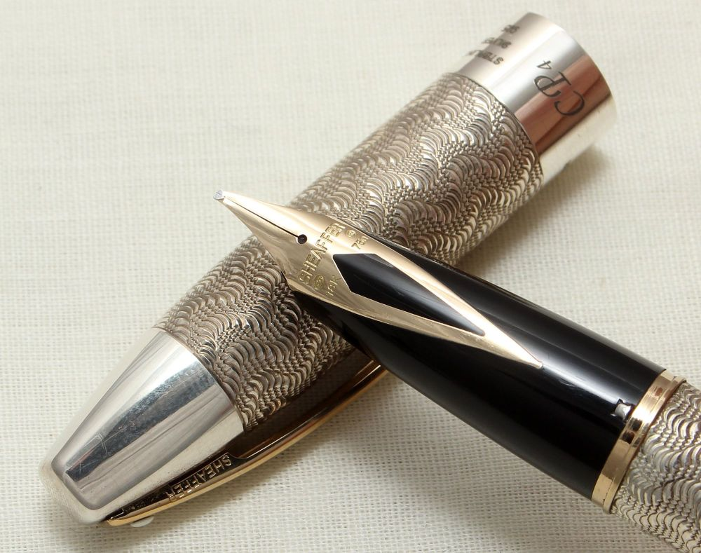 8925 Sheaffer Legacy CP4 Limited Edition Sterling Silver Fountain Pen, Smoo