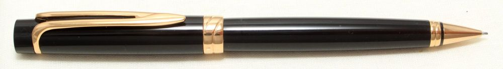 8990 Watermans Liaison Pencil in Gloss Black with Gold Filled trim.
