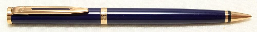 8994 Watermans Preface Pencil in Royal Blue Lacquer with Gold Filled trim.