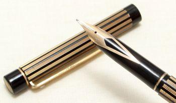 8999 Sheaffer Targa 675s Slim fountain Pen in Regency Stripe. Fine nib.