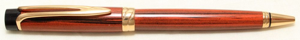 9011 Watermans Liaison Ballpoint in Woodgrain with Gold Filled trim.