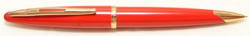 9017 Watermans Carene Pencil in Orange with Gold Filled trim.