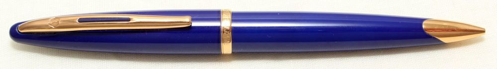9018 Watermans Carene Pencil in Blue with Gold Filled trim.