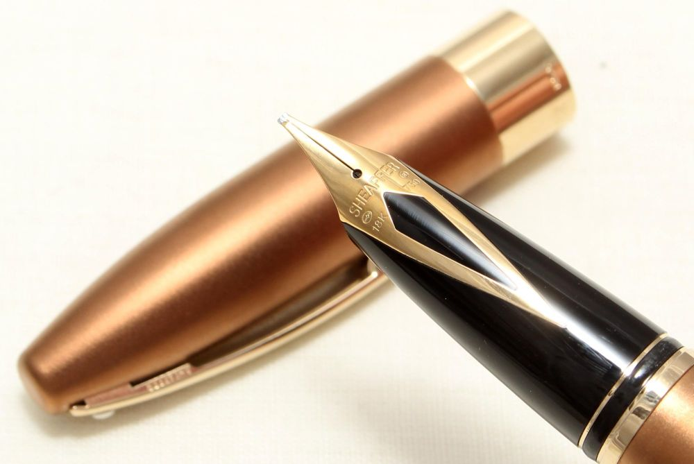 9024 Sheaffer Legacy Fountain Pen in Frosted Copper, Smooth Broad Stub FIVE