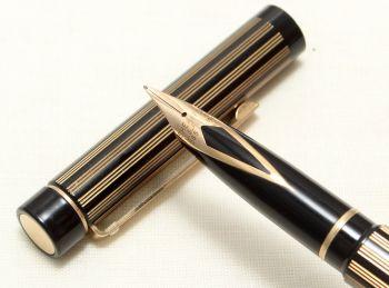 9025 Sheaffer Targa 675 Classic Fountain Pen in Regency Stripe. Medium nib.