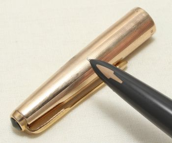 9064 Parker 61 MkII Insignia in full Rolled Gold. Smooth Medium FIVE STAR Nib.