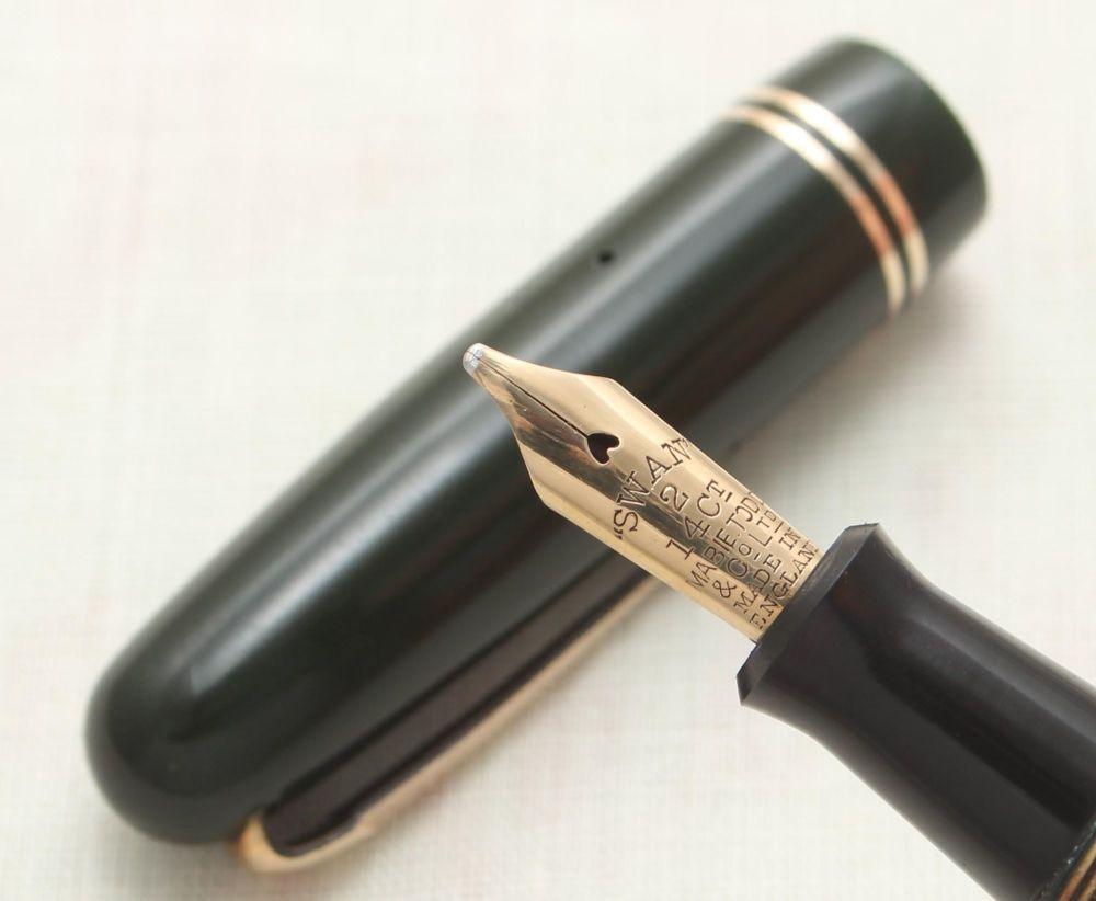 9103 Swan (Mabie Todd) Self Filler 3240 Fountain Pen in Dark Green. Phenome