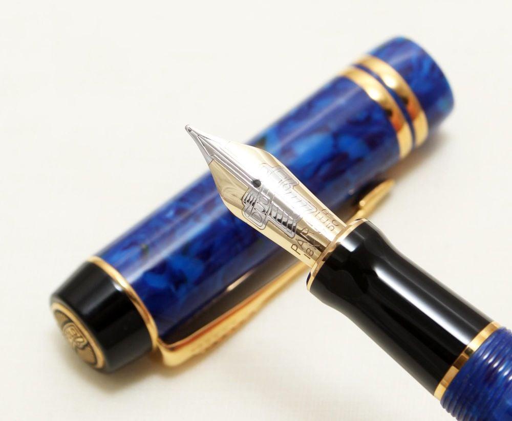 9129 Parker Duofold Centennial Fountain Pen in Lapis Lazuli Blue,  Medium F