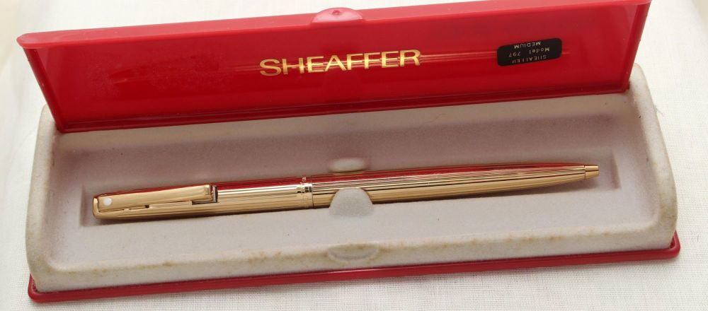 9143 Sheaffer Imperial Ball Pen in Rolled Gold. Mint and Boxed.
