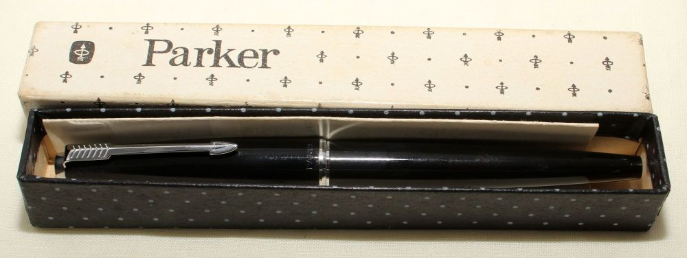9162 Parker 45 CT in Black. Fantastic Broad FIVE STAR Nib.
