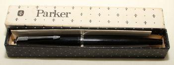 9162 Parker 45 CT in Black. Fantastic Broad FIVE STAR Nib.
