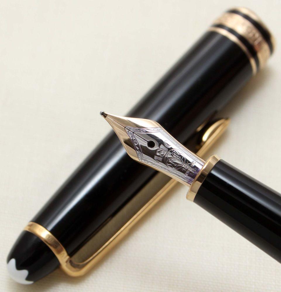 9168 Montblanc Classique Pix Fountain Pen in Classic Black. Medium FIVE STA