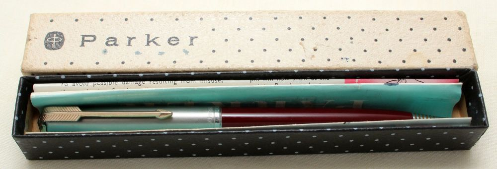 9176 Parker 51 Clutch Pencil in Burgundy with a Lustraloy Cap. Mint and Box