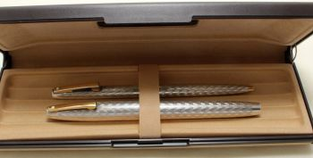9194 Sheaffer Imperial 834 Sterling Silver Fountain Pen and Ball Pen set. Smooth Fine FIVE STAR Nib.