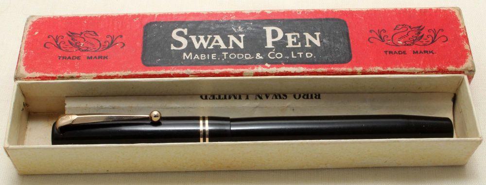 9197 - Swan (Mabie Todd) 6260 Self Filling Fountain Pen in Classic Black, M