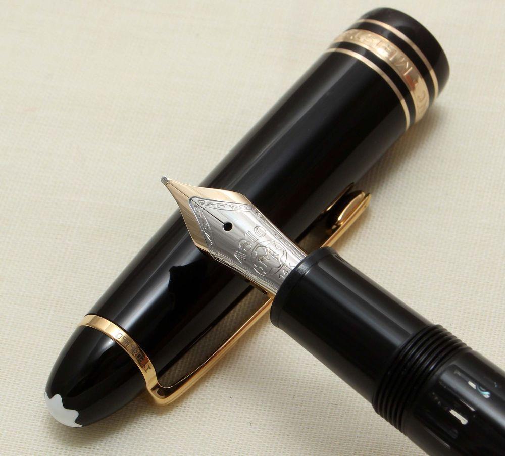 9212 Montblanc 146 Fountain Pen in Black. Medium FIVE STAR Nib.