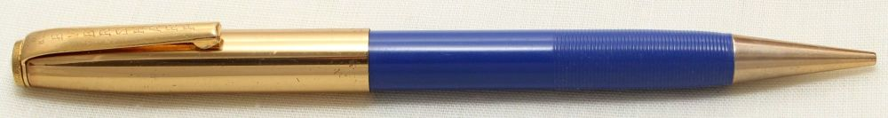 9227 Eversharp Symphony 1605 Propelling Pencil in Ribbed Blue with G/F Trim