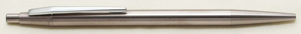 9243 Montblanc Noblesse Brushed Stainless Steel Ball Pen. Mint.