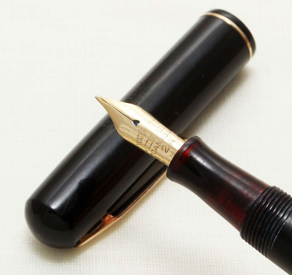9266 Watermans Ideal in Black. Fine Semi Flex FIVE STAR Nib.