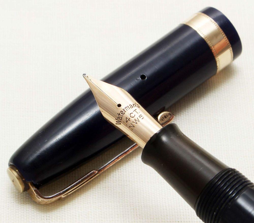 9269 Watermans 515 Fountain Pen in Black, Medium FIVE STAR Nib.