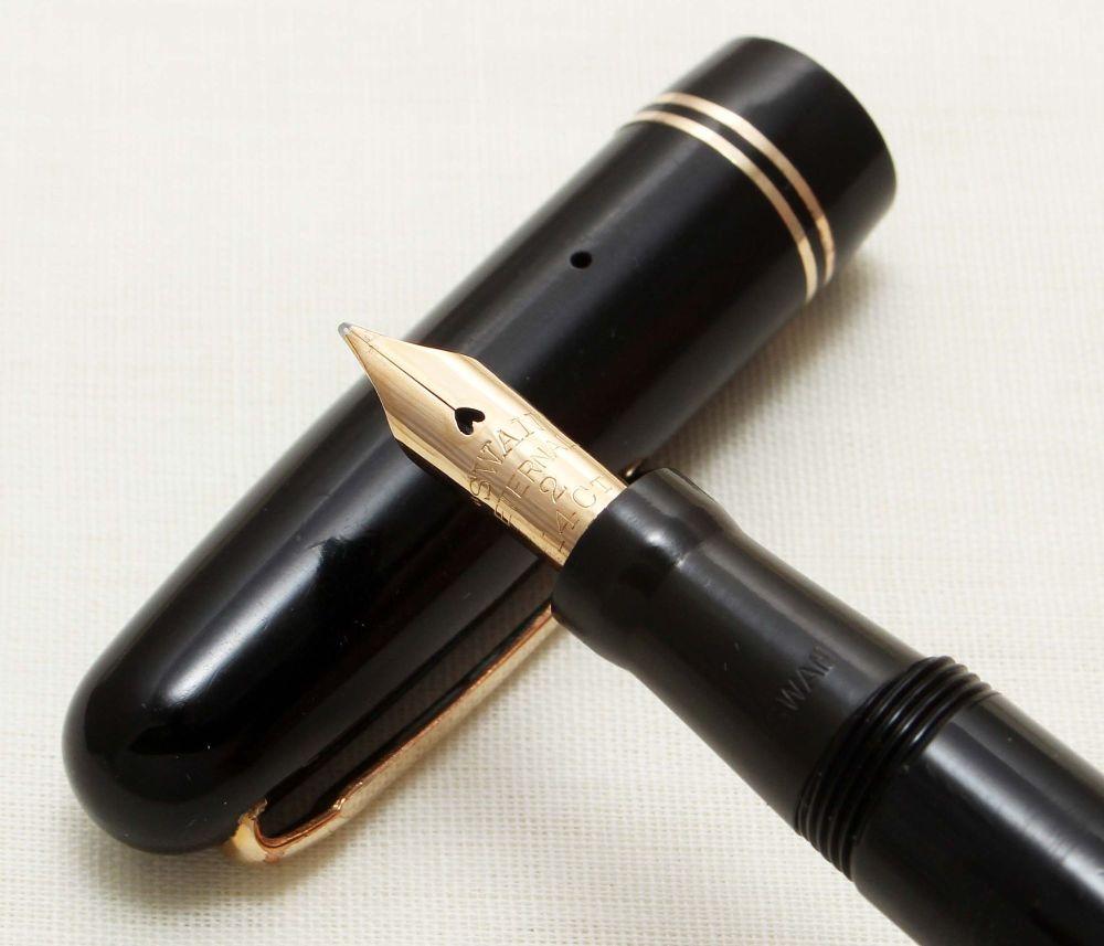 9276 Swan (Mabie Todd) Self Filler 3260 Fountain Pen in Black. Smooth Fine