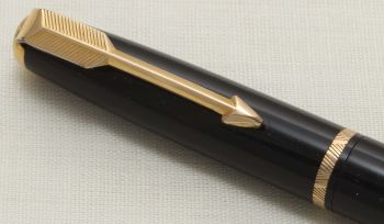 8896 Parker Duofold Propelling Pencil in Black with Gold filled trim.
