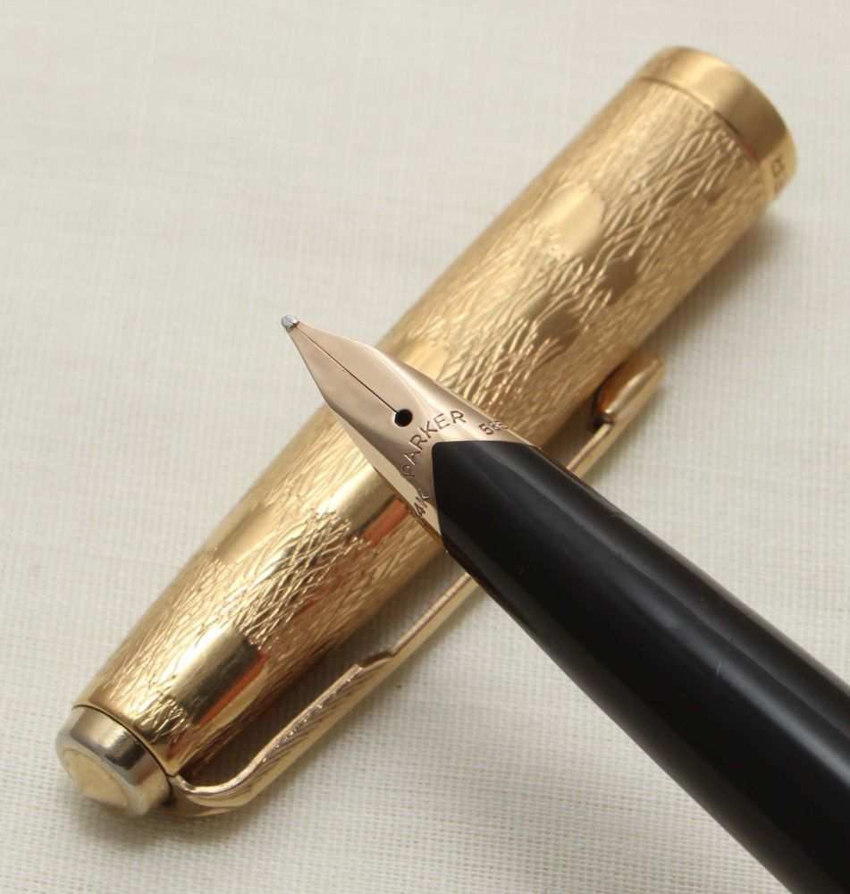 9309 Parker 65 Stratus, Rolled Gold Cap and Barrel, Special