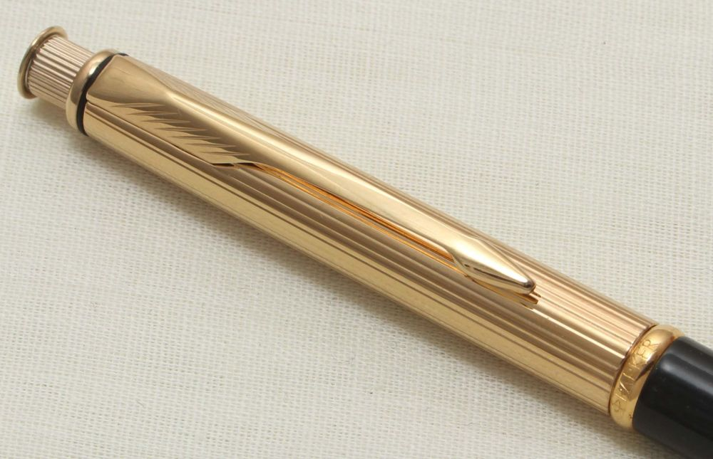 9310 Parker Insignia Pencil in Gold and Black Lacquer from 1992.