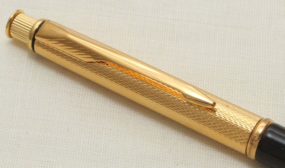 9311 Parker Insignia Pencil in Gold and Black Lacquer from 1992.