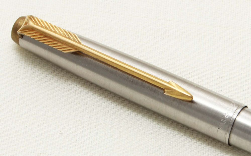 9317 Parker Falcon Ball Pen, Finished in brushed Stainless Steel.