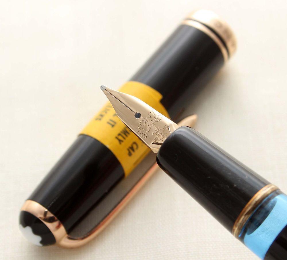 9340 Montblanc No.254 Piston filling Fountain Pen in Classic Black. Medium