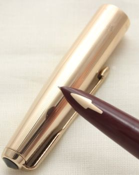 9393 Parker 61 Custom Fountain Pen. Fine FIVE STAR Nib. Mint and Boxed.