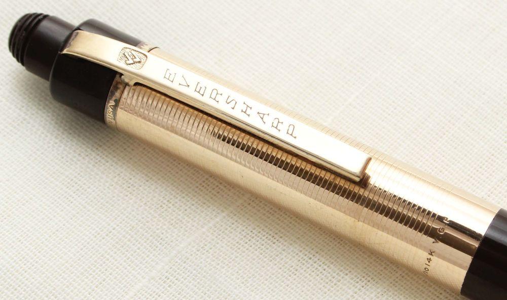 9391 Eversharp Skyline Pencil in Dark Brown and Gold.